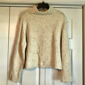 Silence+Noise Cropped Turtle Neck Knit Sweater